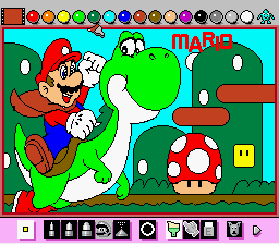 Mario Paint (Joystick) - Mario! - User Screenshot